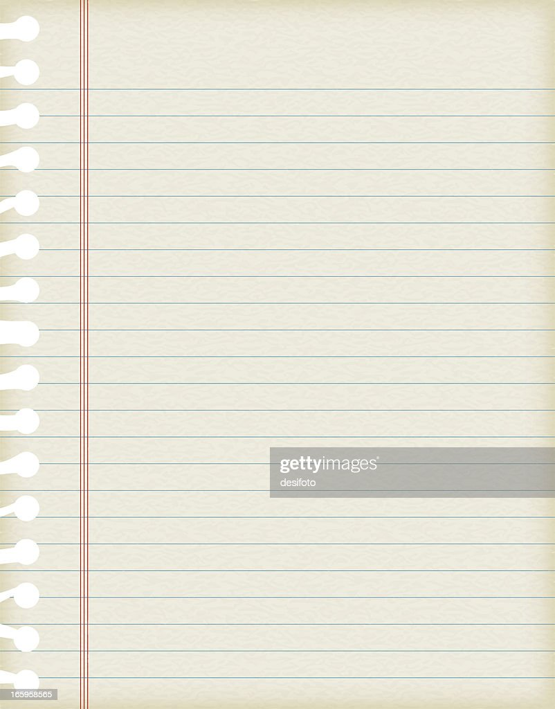 Vector Illustrations Of Lined Paper With Texture  Lined Paper With Picture