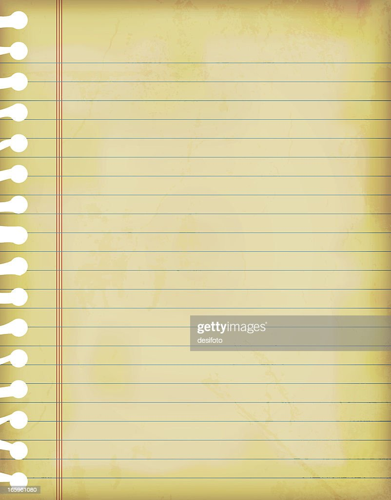 vector illustrations of old grunge lined paper vector art | getty images