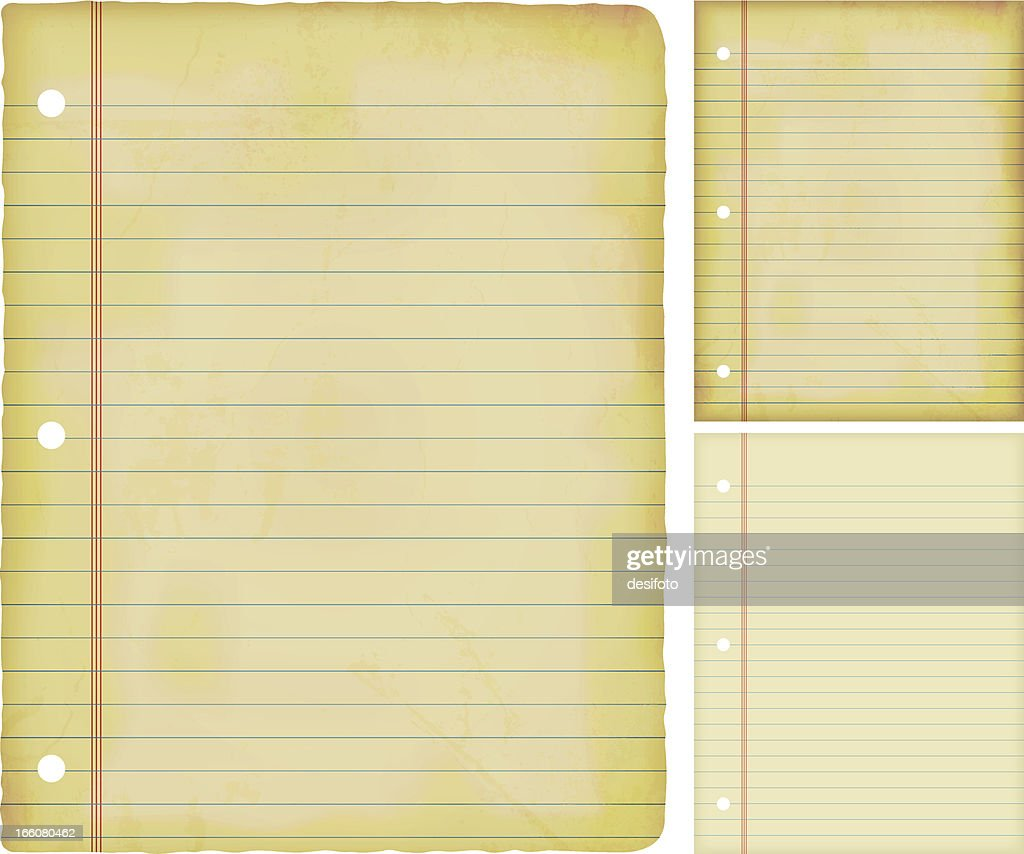 Vector illustrations of old grunge lined papers