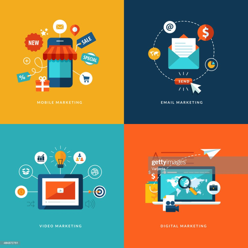 Vector image concepts for web and mobile services