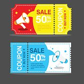 vector image coupon discount template