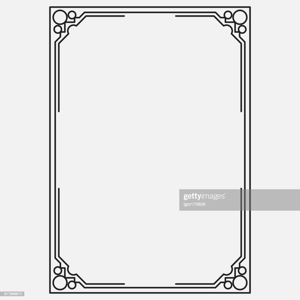 vector image, dark icon, ornamental frame