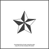 Vector image five-pointed star. Star on white isolated background. Layers grouped for easy editing illustration. For your design.