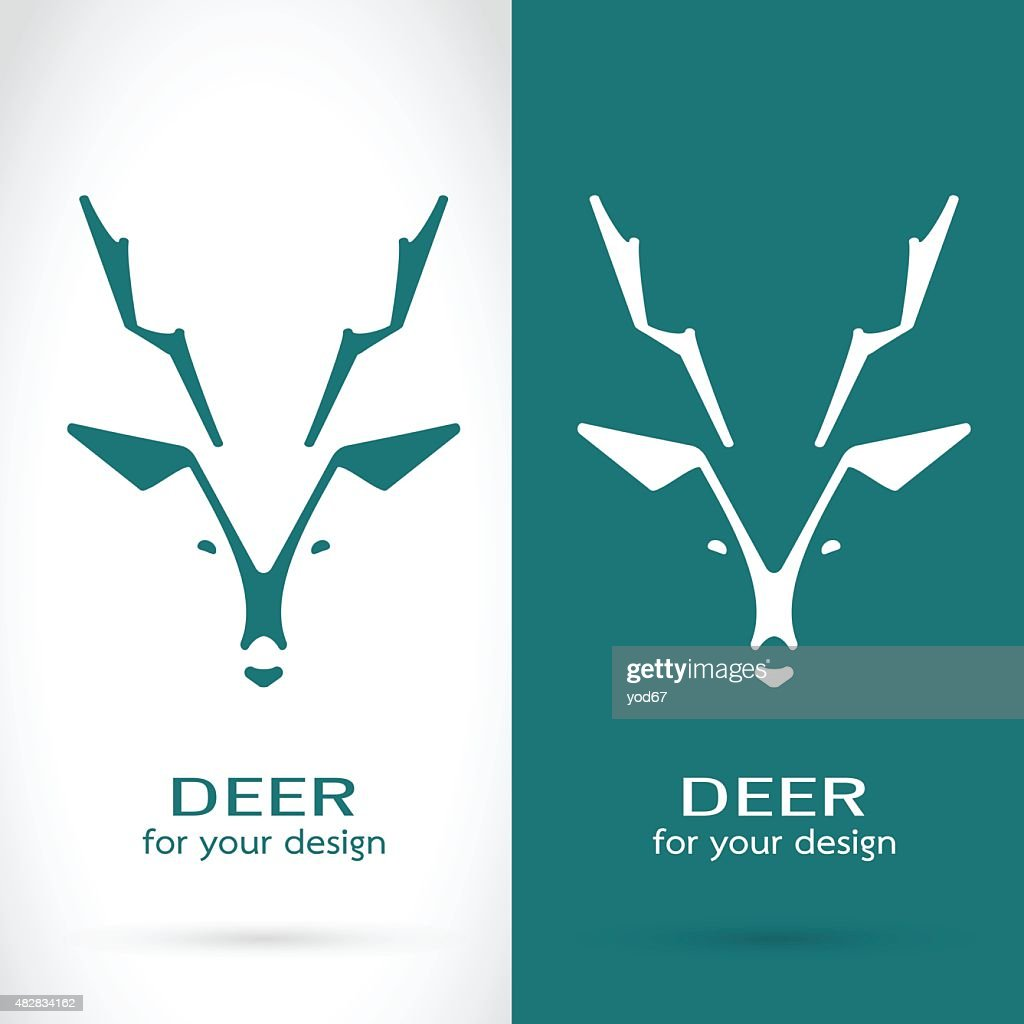 Vector image of a deer head design