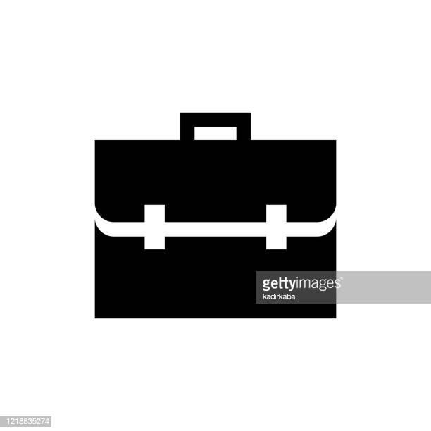 vektorbild eines flachen, isolierten icon business bag zeichens - aktentasche stock-grafiken, -clipart, -cartoons und -symbole