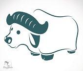 Vector image of an buffalo