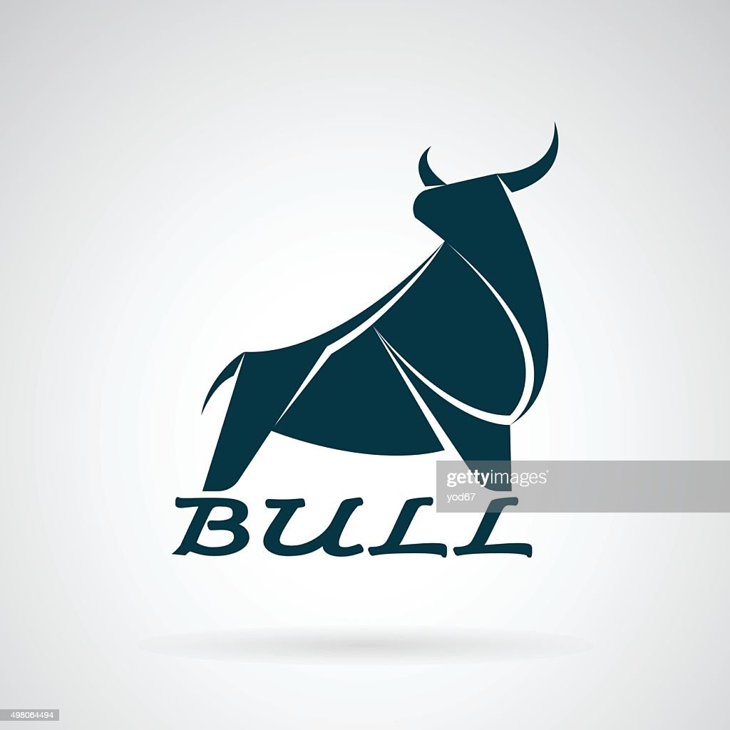 Vector image of an bull design