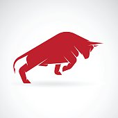 Vector image of an bull design