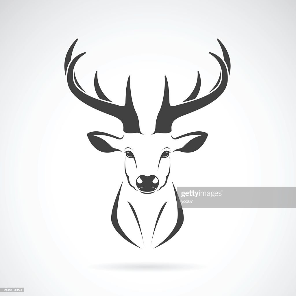 Vector image of an deer head design