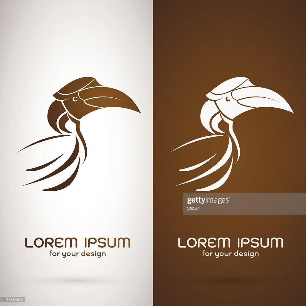 Vector image of an hornbill design