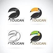 Vector image of an toucan bird design