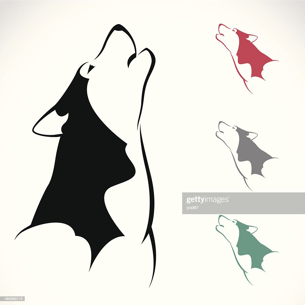 Vector image of an wolf