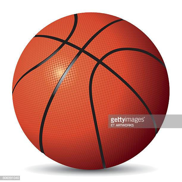 vector image of basketball - basketball ball stock illustrations, clip art, cartoons, & icons