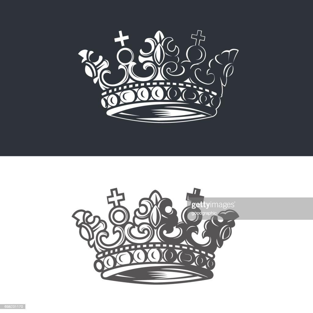 Vector image of heraldic crown.
