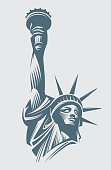Vector image of the Statue of Liberty on a white background