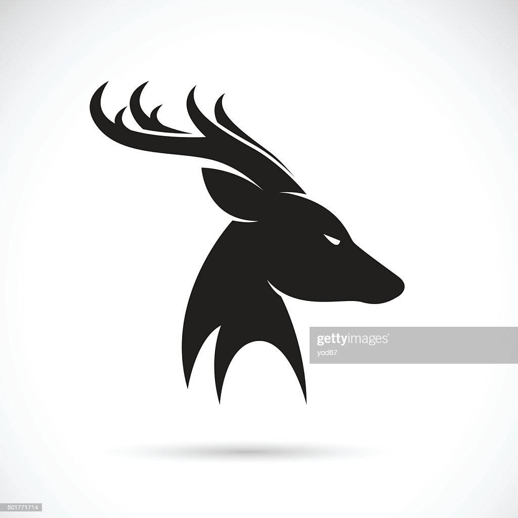 Vector images of deer head