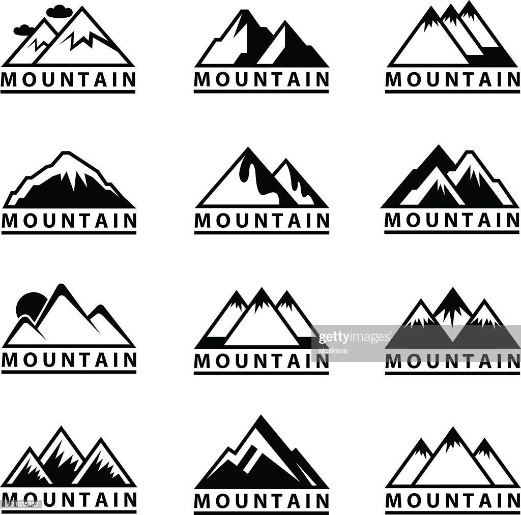 Vector images of mountain icons