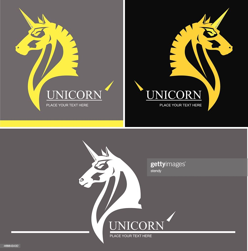 Vector images of unicorn for logo set up
