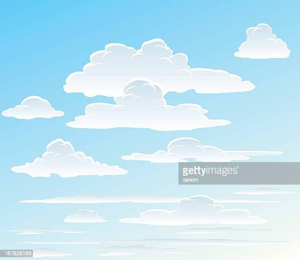 ilustrações, clipart, desenhos animados e ícones de nuvens - vapor forma da água