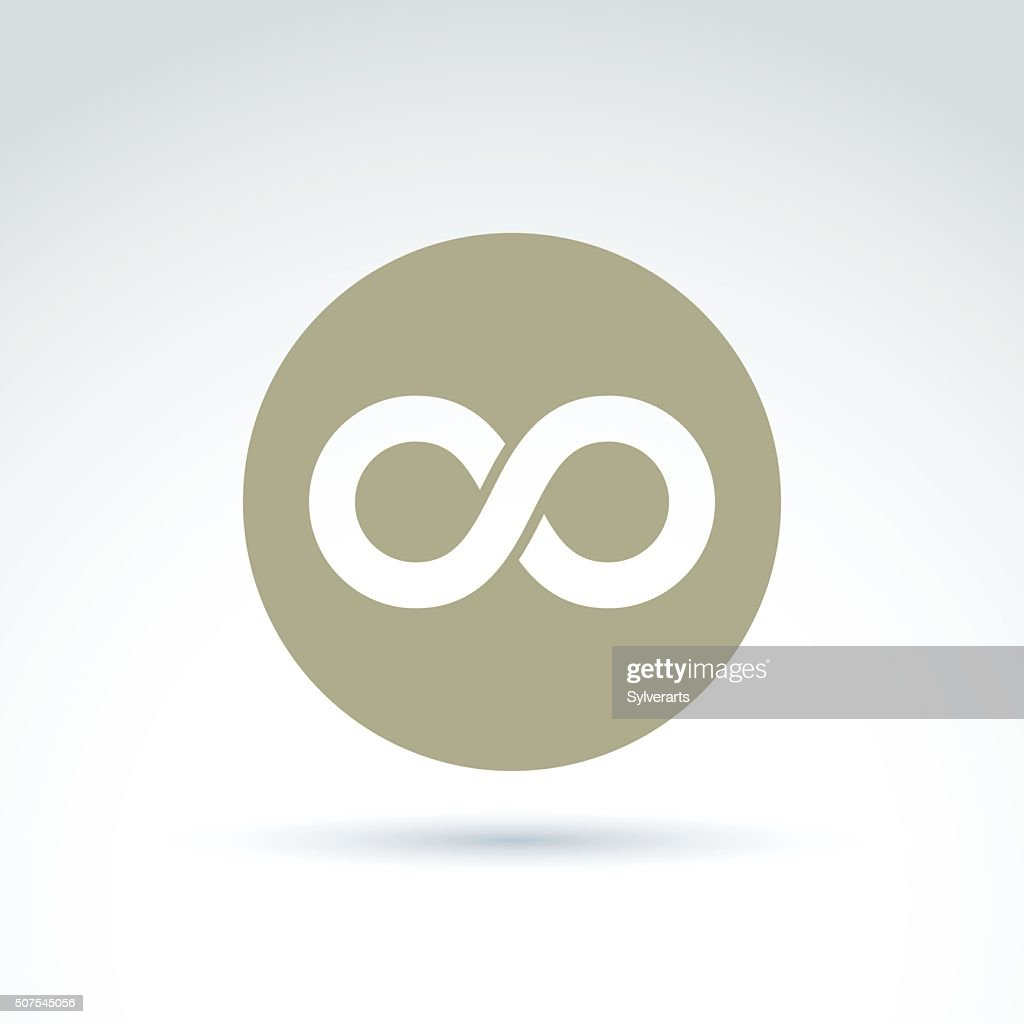 Vector infinity icon isolated on white background, illustration