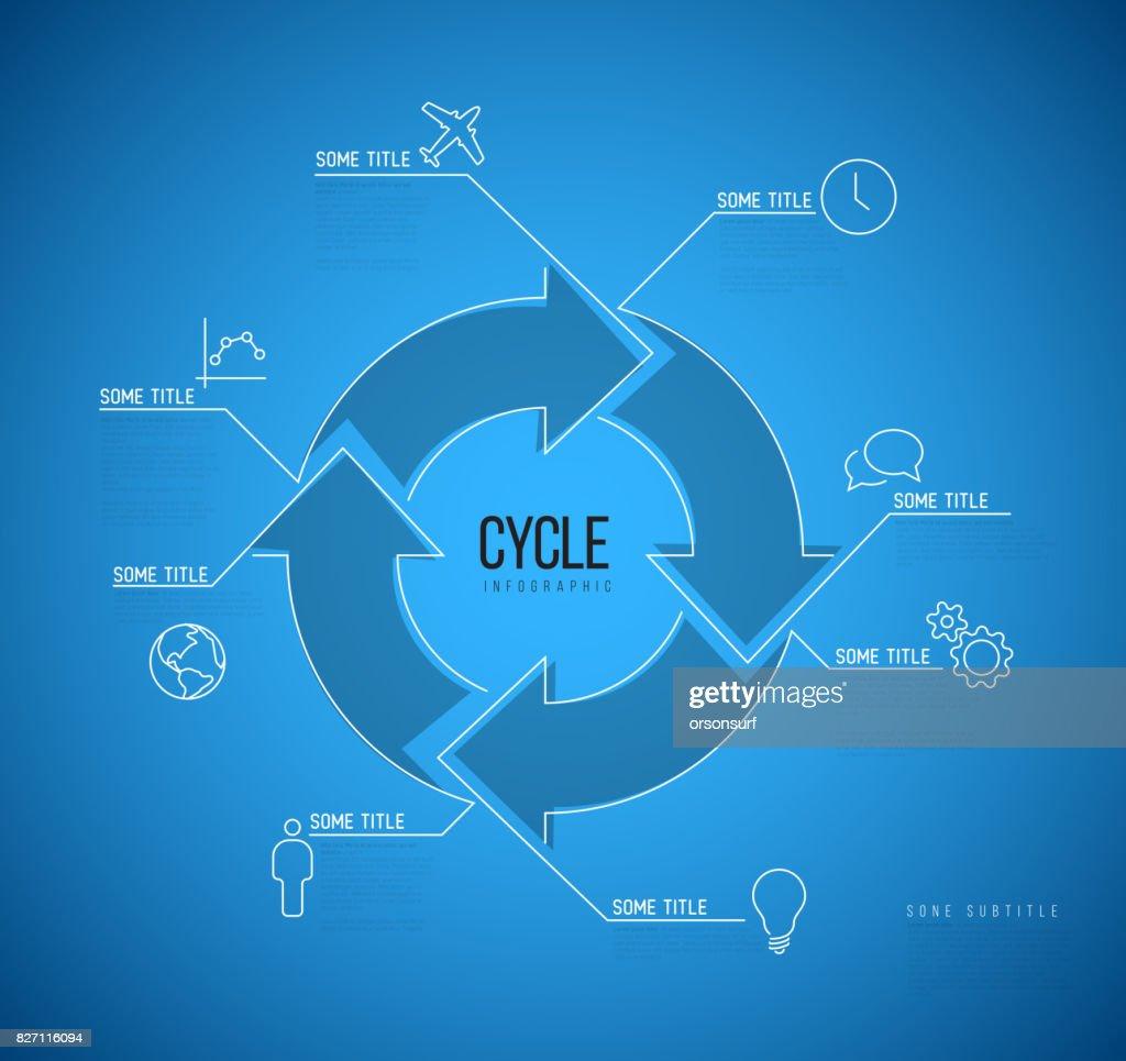 Vektor Infografik Blaupause Zyklus Vorlage Vektorgrafik | Getty Images