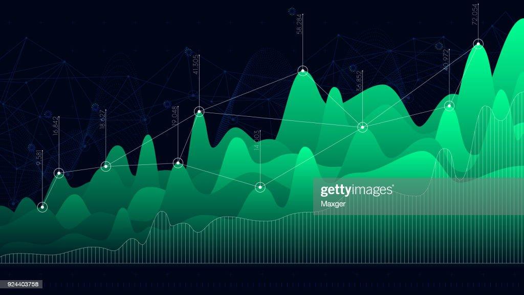 Vector infographic dashboard design graphs business analytics