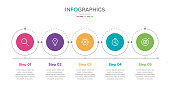 Vector infographic label template with icons. 5 options or steps. Infographics for business concept. Can be used for info graphics, flow charts, presentations, web sites, banners, printed materials.