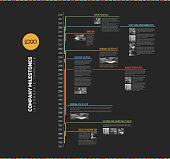 Vector Infographic multi timeline report template