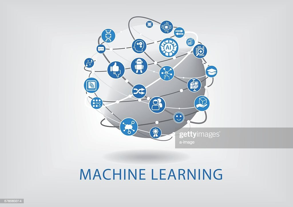 Vector infographic of machine learning concept