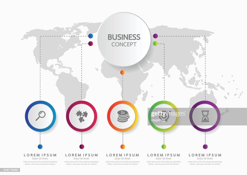 Vektor Infografik Vorlage Geschäftskonzept Mit Optionen Labelkreise ...