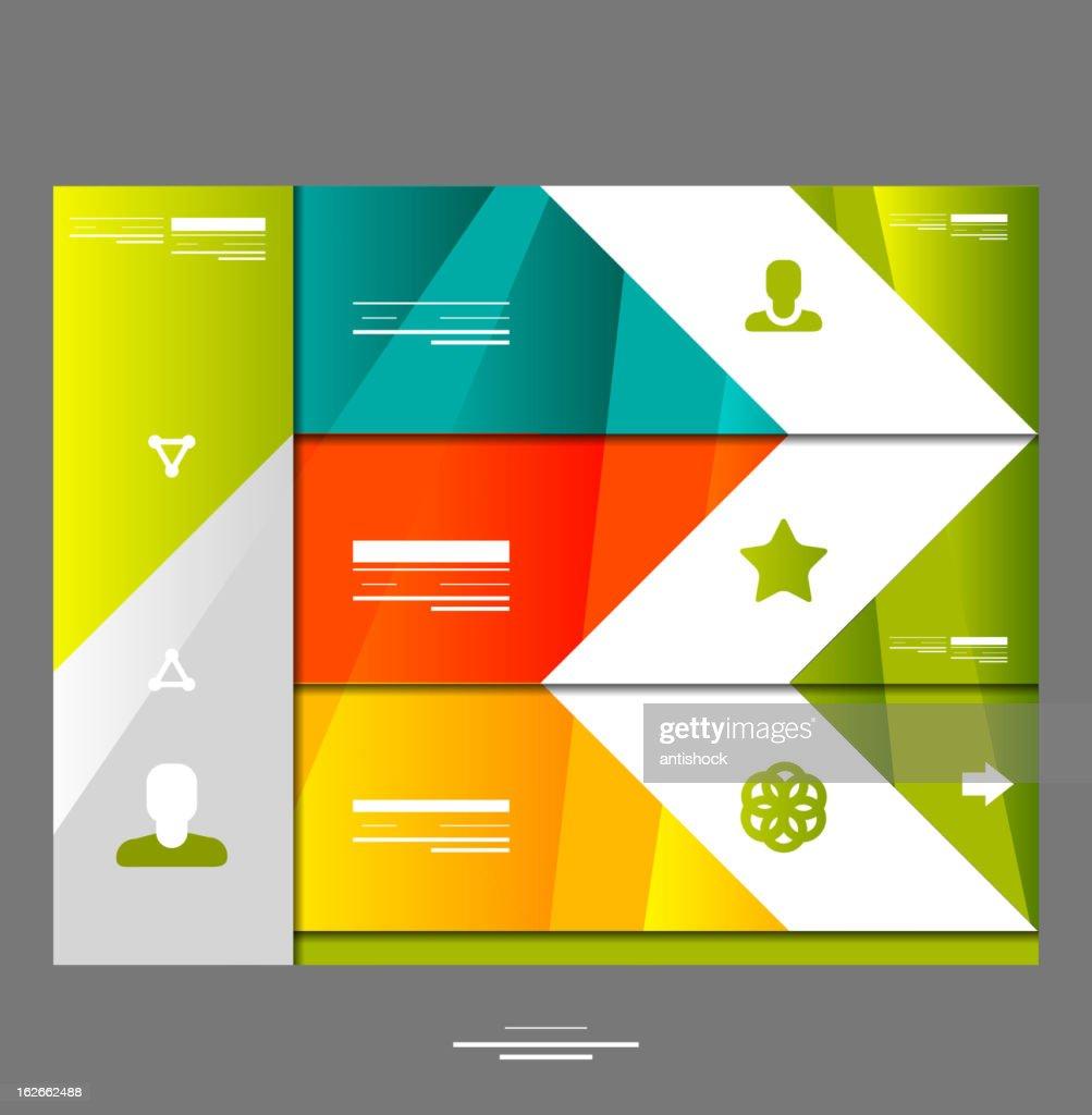 Vector infographic website design