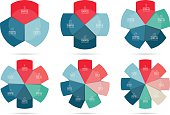 Vector infographics design circle template set
