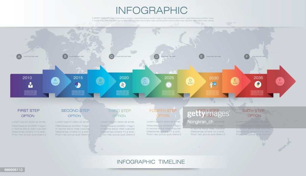 vector infographics timeline design template with 3d paper label and