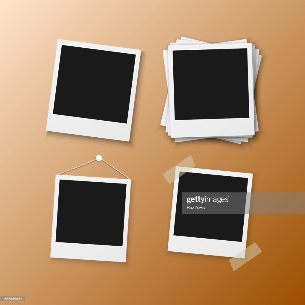 Vector Instant Photo Frame. Realistic Instant Snapshot. Modern Photography Element Polaroid Frame