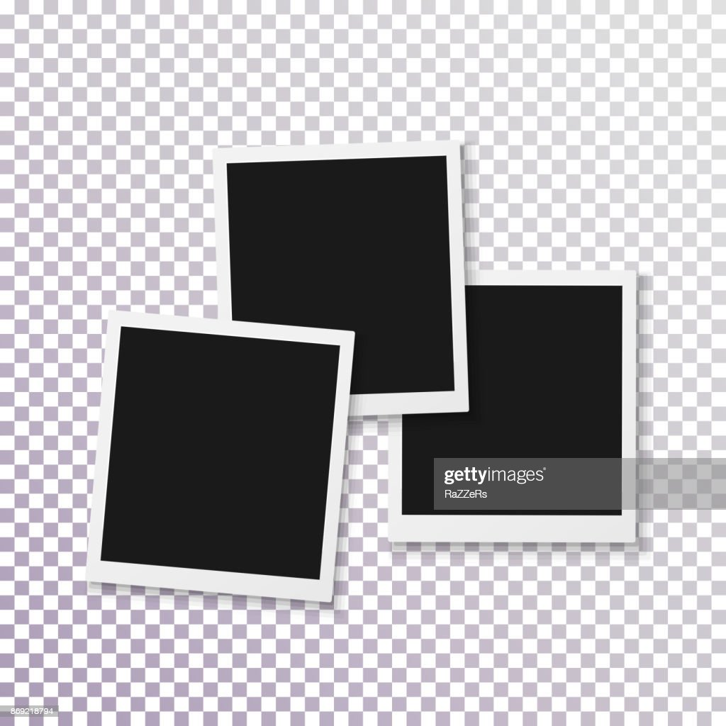 Vector Instant Photo Frame. Realistic Instant Snapshot. Modern Photography Element
