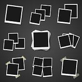 Vector Instant Photo. Photorealistic Vector EPS10 Retro Instant Photo Frame Mockup
