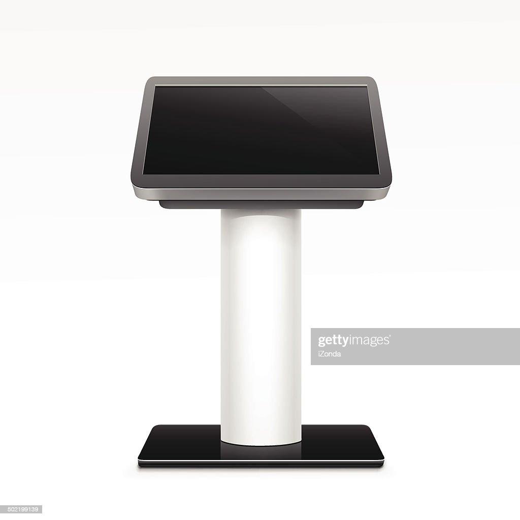 Vector Interactive Information Kiosk Terminal Stand Screen
