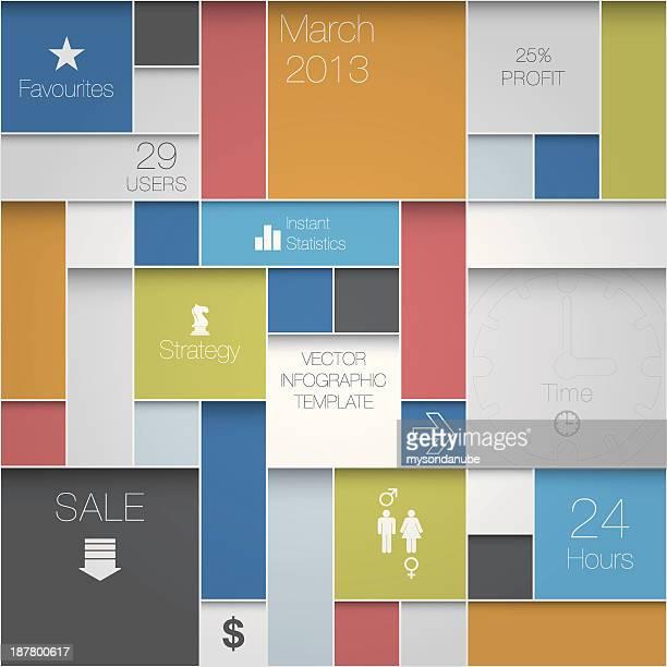 Vektor-interface oder Infografik Hintergrund