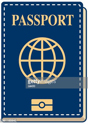 Vector International Passport Cover Template Stock