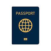Vector International passport with biometric data.