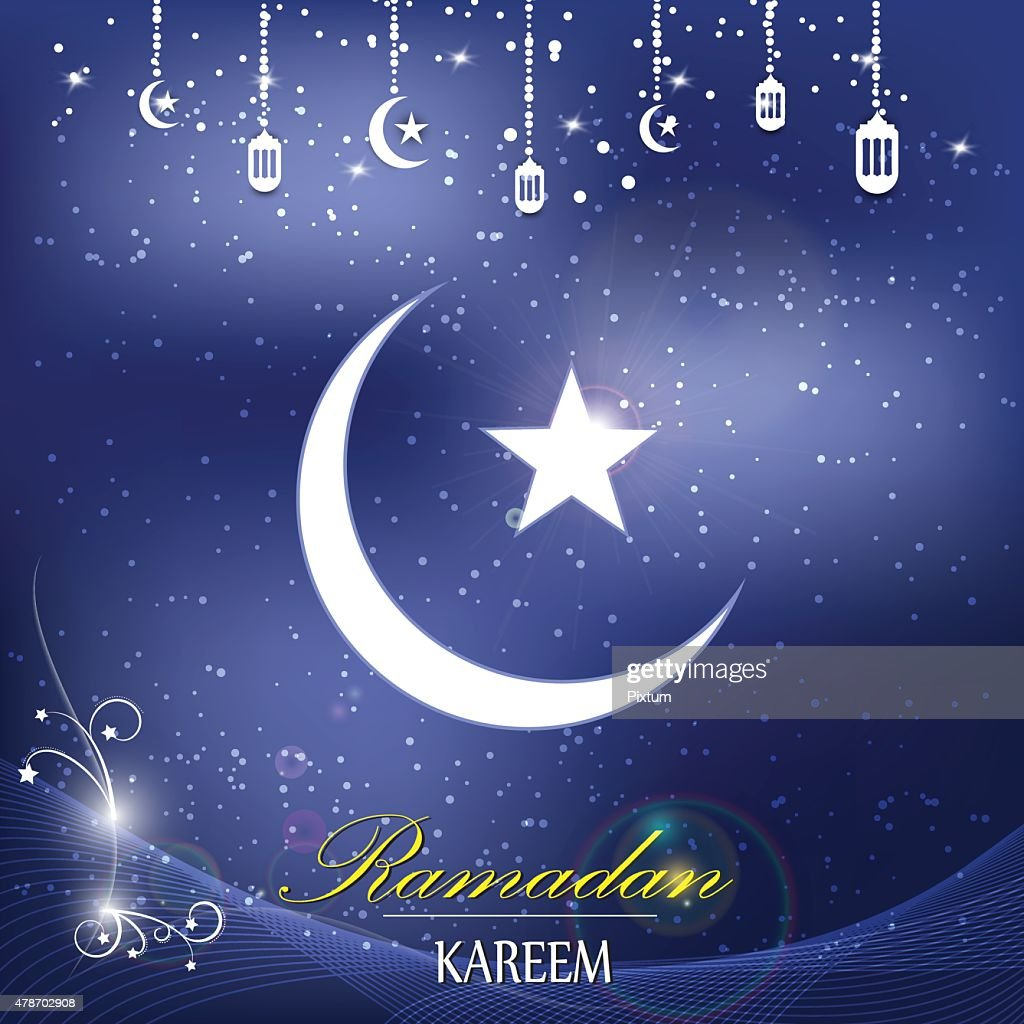 Vector Islam Logo Ramadan Background stock illustration - Getty Images