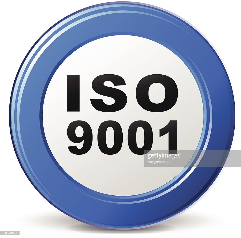Vector iso 9001 icon