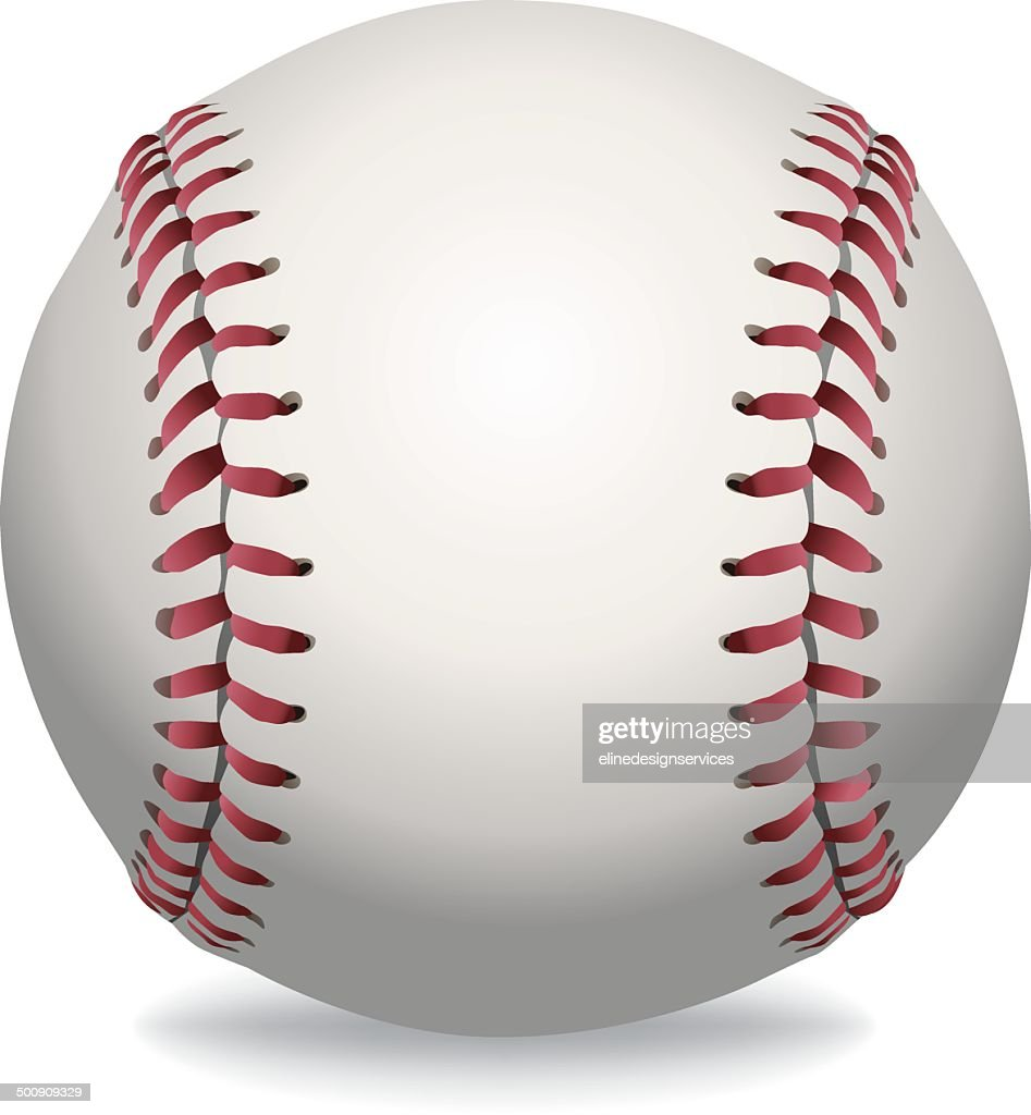 Vector Isolated Baseball Illustration