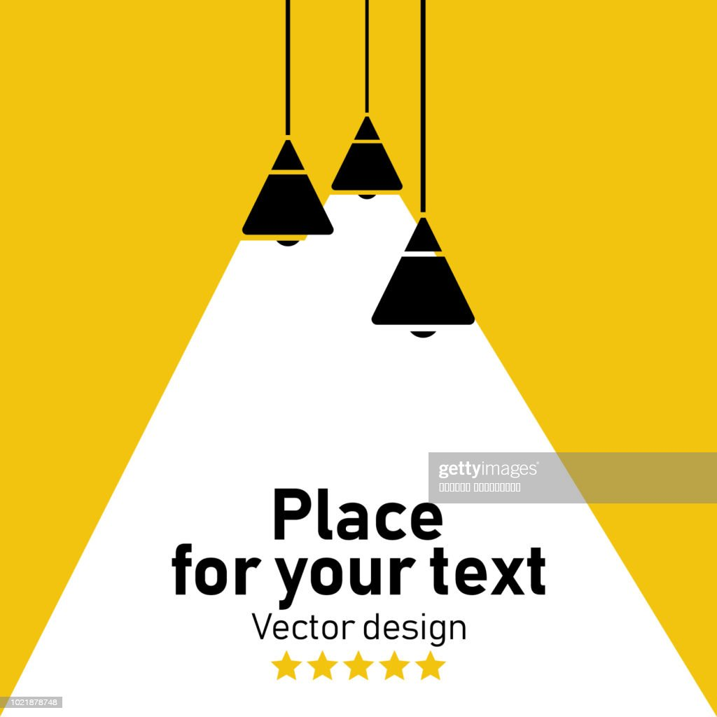 Vector Isolated Lamp.
