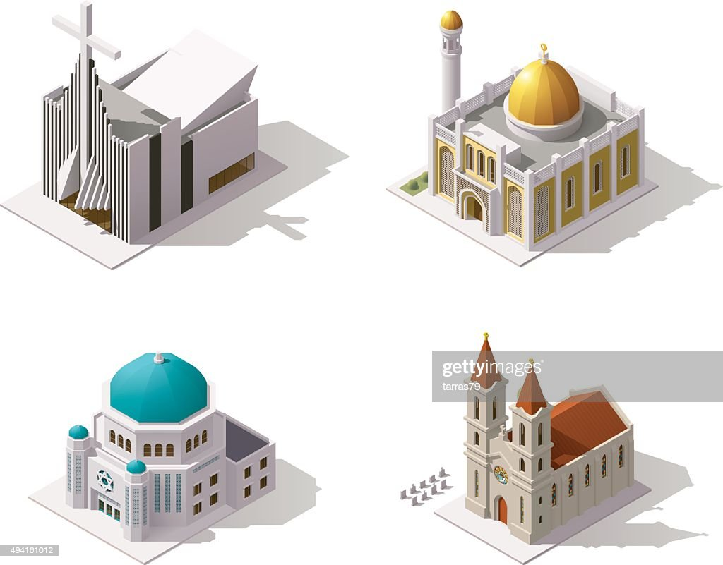 Vector isometric places of worship
