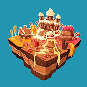 Vector isometric sweet island