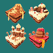 Vector isometric sweet islands