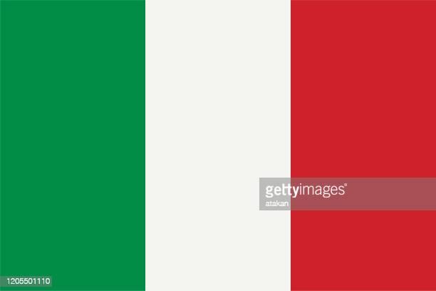 vector italian flag design - italian flag stock illustrations
