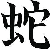 vector - Japanese Kanji character SNAKE