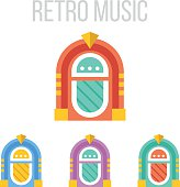 Vector jukebox icons